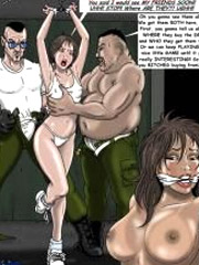 Chained captured 3d princess gets facialized by her jailer. tags: cum on face, boobs, shaved pussy.